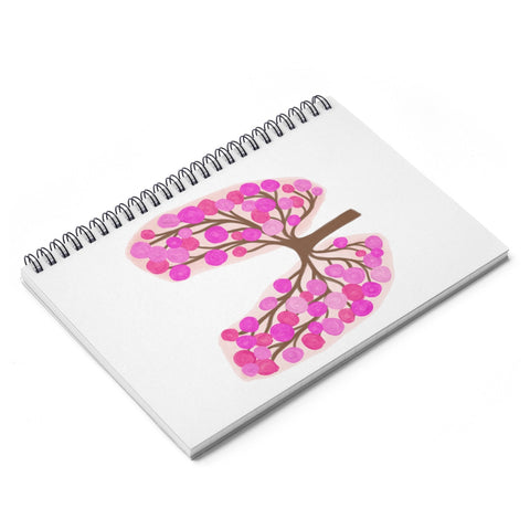 65 Roses Lungs Spiral Notebook - Ruled Line