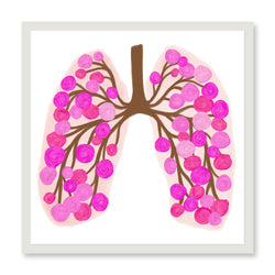 65 Roses Lungs Stickers