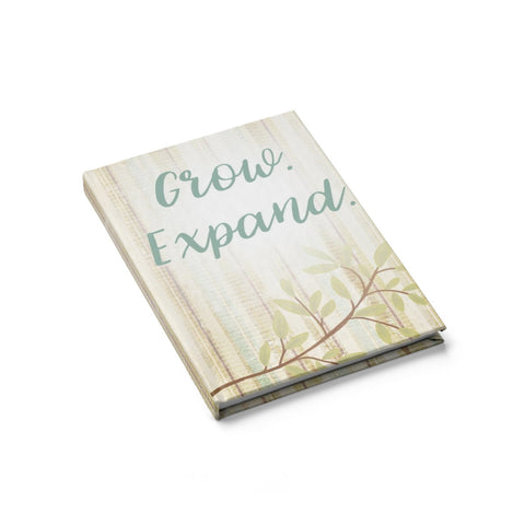 Grow. Expand. Leaf Journal - Blank