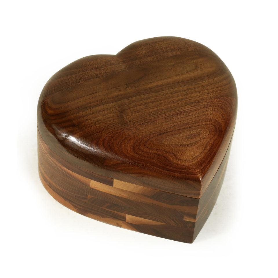 Love Urn in Walnut
