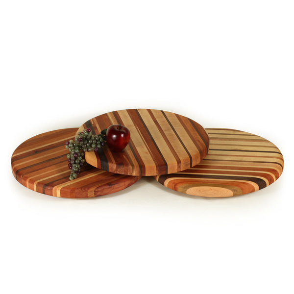 Large Lazy Susan in Multiple Woods