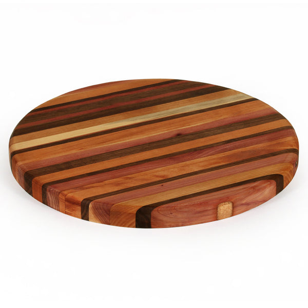 Large Round Cutting Board in Multiple Woods