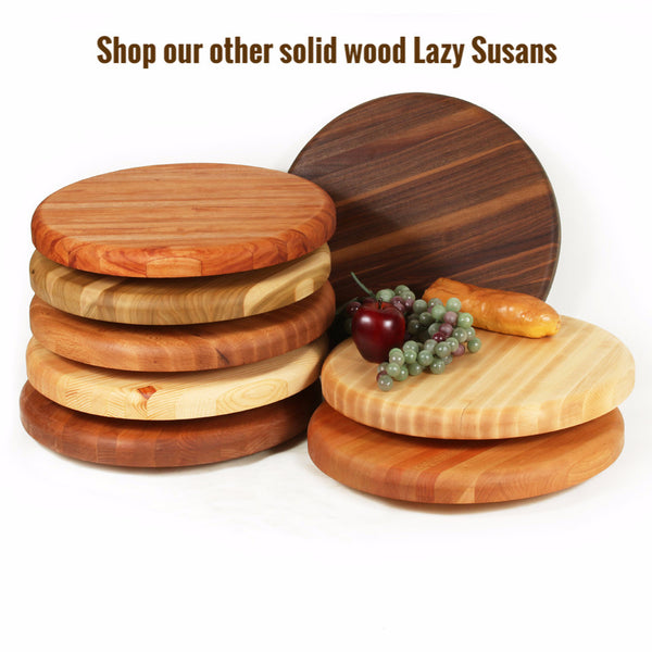 Large Lazy Susan in Red Oak