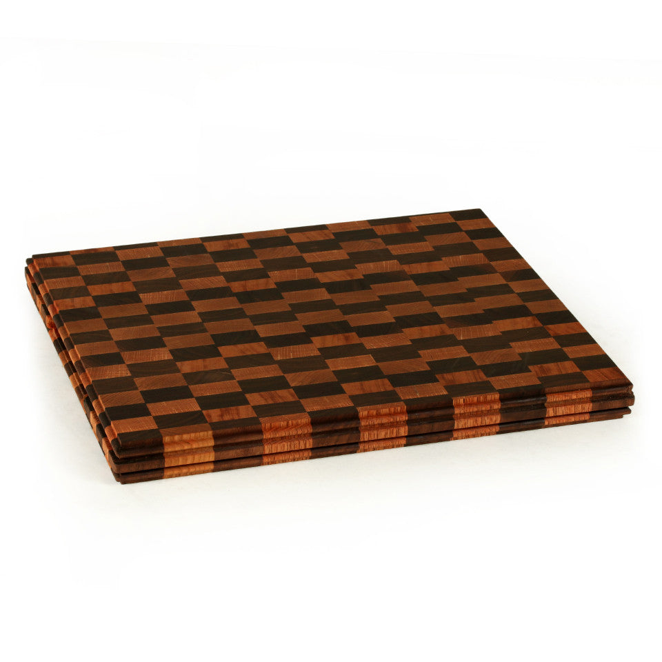 Large End Grain Up Cutting Board in Multiple Woods