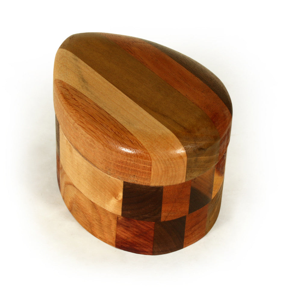Egg Keepsake Box in Multiple Woods