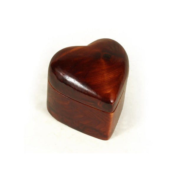 Small Keepsake Heart Box in Cedar