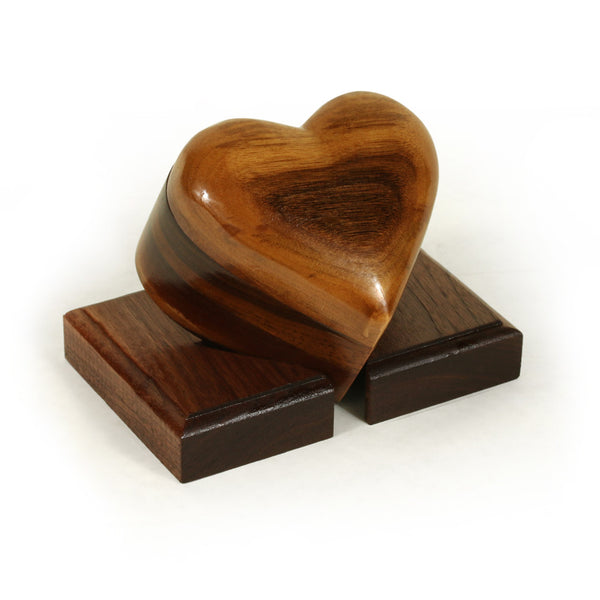 Small Keepsake Heart Box in Walnut