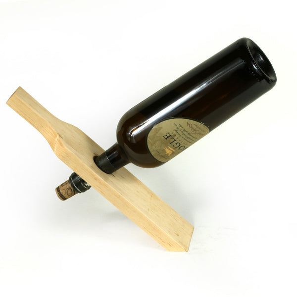 Wine Bottle Holder in Sugar Pine