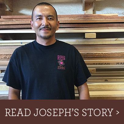 Read Joseph's inspiring story about his experience prior to and at Fathers Building Futures, and how creating custom, unique woodcraft like cutting boards and Lazy Susans has helped change his life