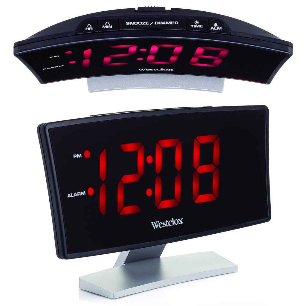 Westclox Curved Display Electric Alarm Clock - SXE Electronics - 1
