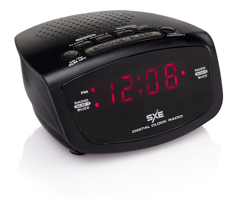 SXE LED Alarm Clock Radio - SXE Electronics
