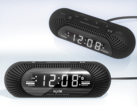 SXE LED Bluetooth and Radio Alarm Clock - SXE Electronics
