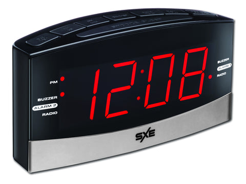 Digital Large Display AM/FM Clock Radio - SXE Electronics - 1