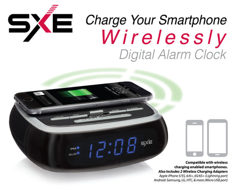 SXE Electronics Wireless Charging Digital Alarm Clock - SXE Electronics - 1