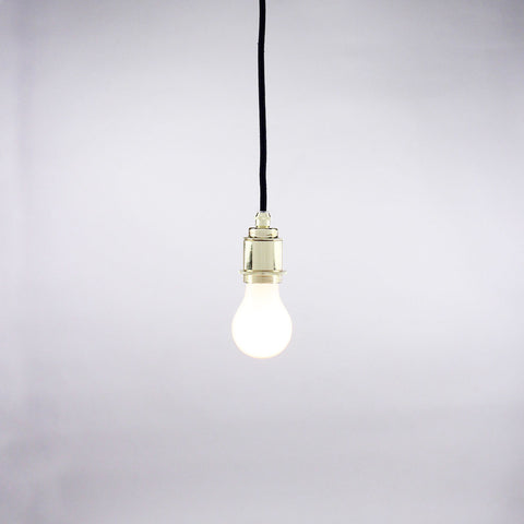 Socket and cord set pendant light in brass finish.