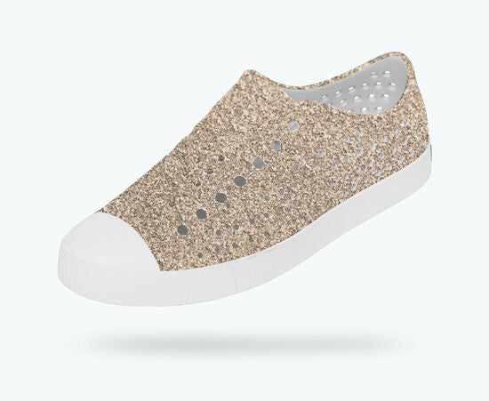 Native Shoes Jefferson Bling in Metal Bling/Shell White