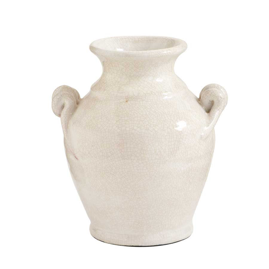 "Load image into Gallery viewer, White European Ceramic Jar 8.5"" *Pick up only*"