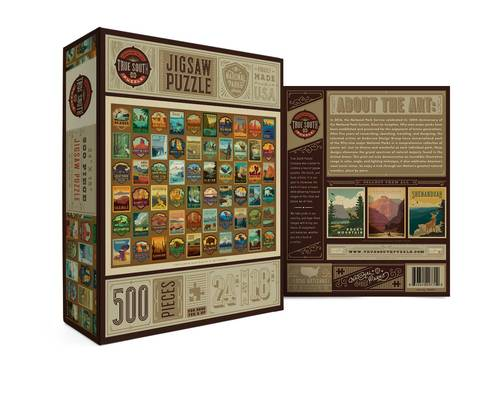 True South National Parks Patches 500 Piece Puzzle