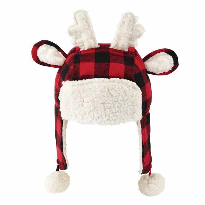 Reindeer Plaid Hat