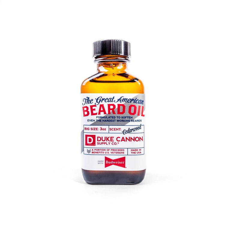 The Great American Beard Oil - Made with Budweiser
