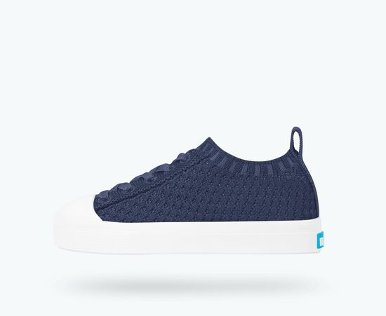 Native Shoes Jefferson 2.0 Liteknit Child in Regatta Blue/Shell White