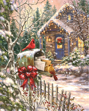 Load image into Gallery viewer, Springbok Cardinal Cottage 1000 Piece Puzzle