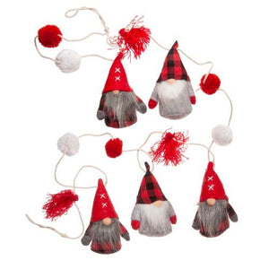 Load image into Gallery viewer, Mudpie Felted Gnome Pom Garland