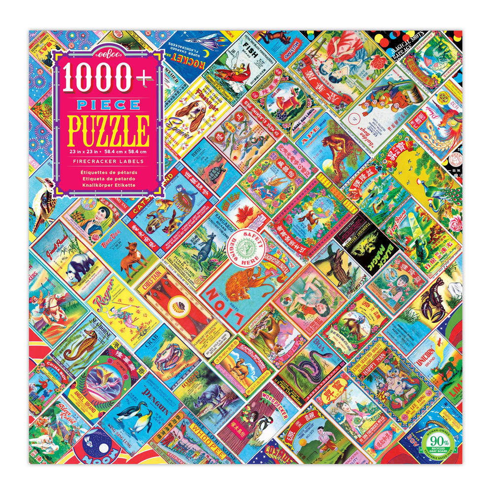 eeBoo Firecracker Labels 1000 Piece Puzzle