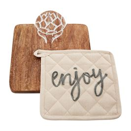 Mud Pie Artichoke Trivet & Pot Holder Set