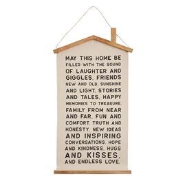 Mud Pie House Canvas Hanger