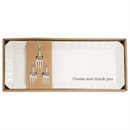 Mud Pie Cheese and Thank You Tray Set