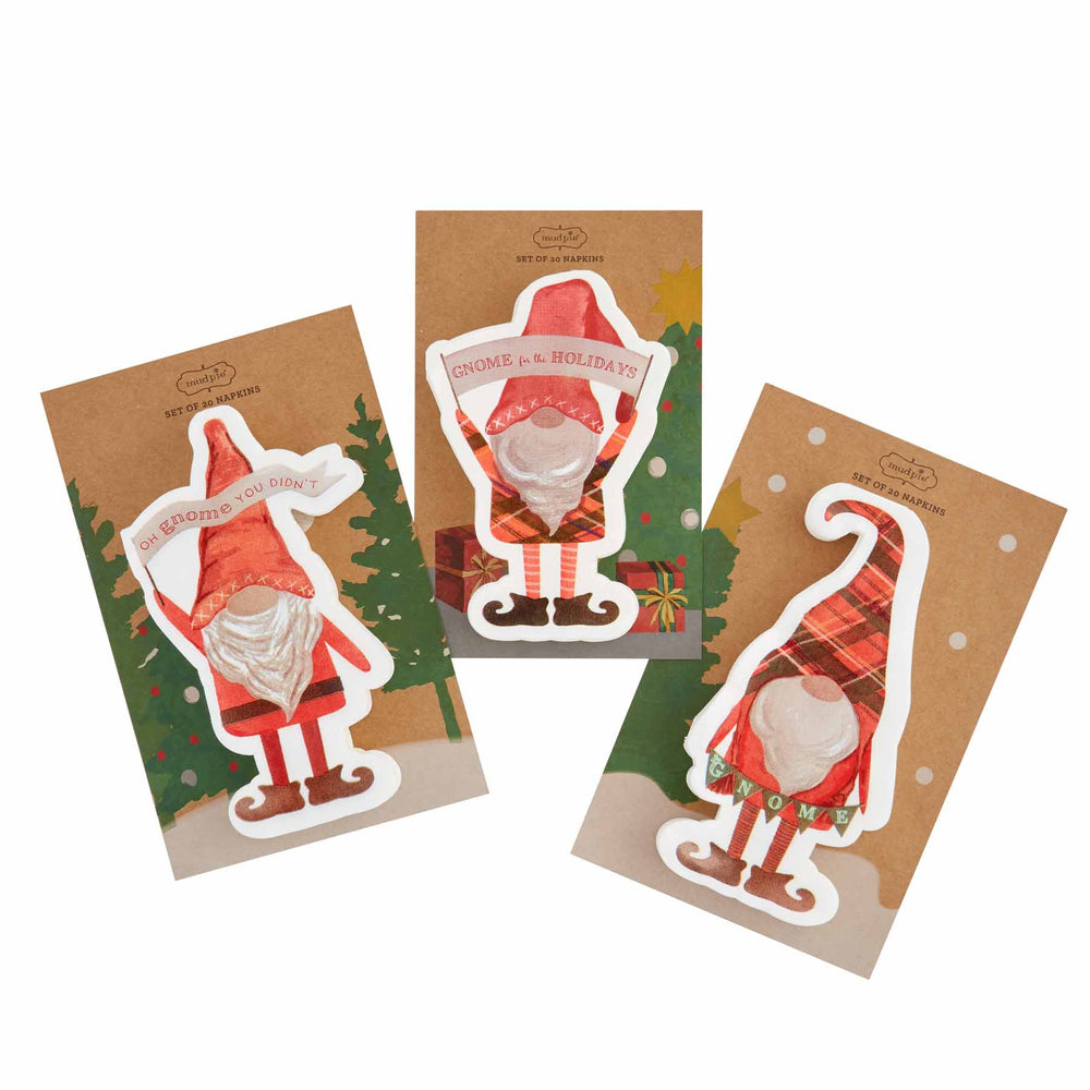 Load image into Gallery viewer, Christmas Gnome Shaped Napkins
