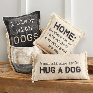 I Sleep with Dogs Pillow 41600359S