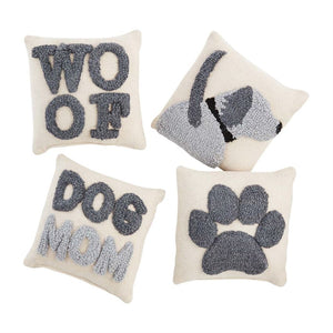 Mud Pie Small Hooked Dog Mom Pillow