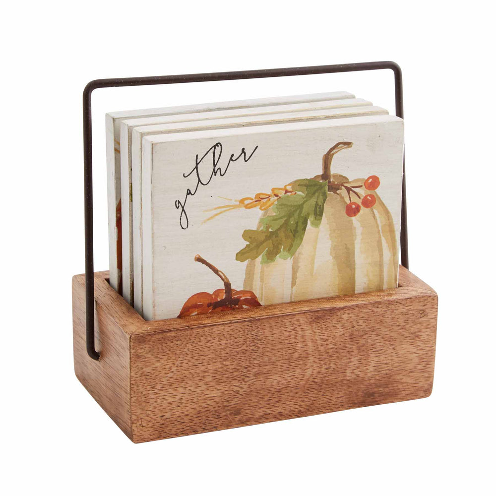 Pumpkin Wood Coasters 42500089