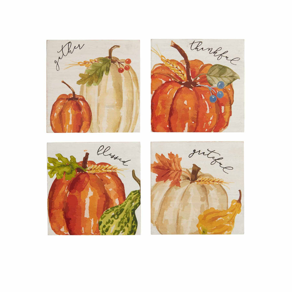 Load image into Gallery viewer, Pumpkin Wood Coasters 42500089