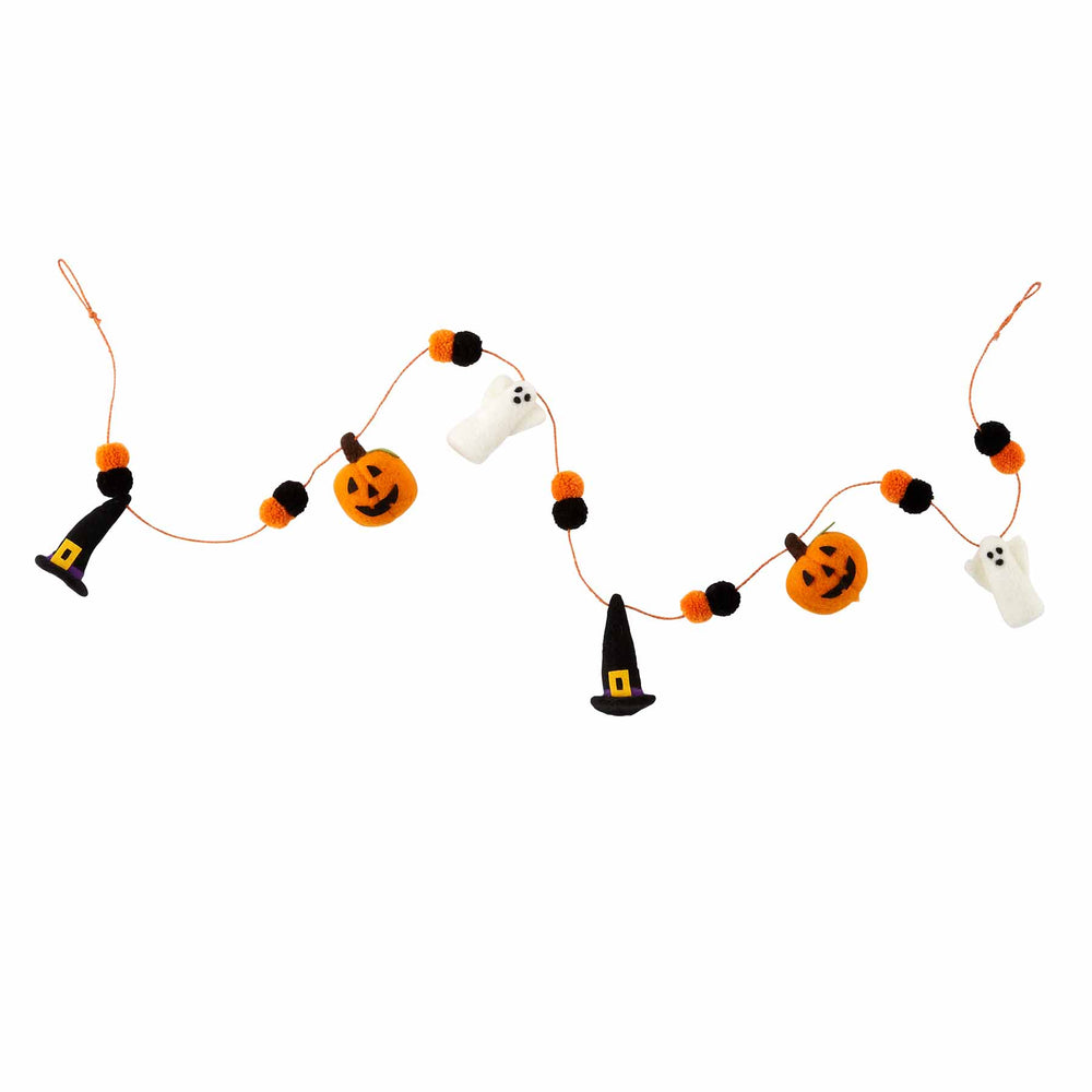 Pumpkin/Witch Pom Garland 42600553P