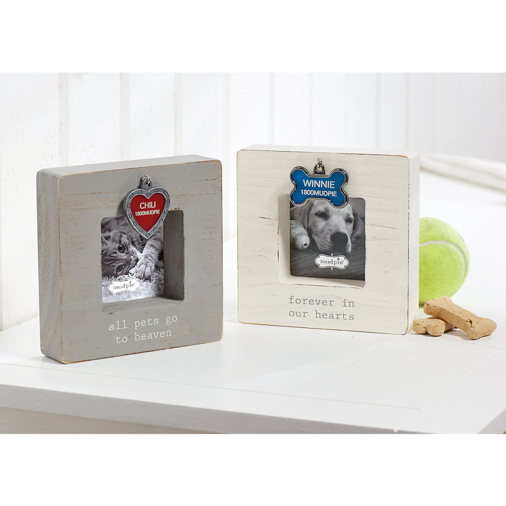 Heaven Dog Tag Picture Frames