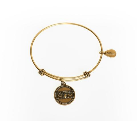 "BellaRyann ""Football Mom"" Expandable Bangle Charm Bracelet"