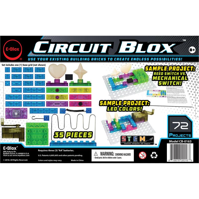 E-Blox Circuit Blox 72 - Circuit Board Building Blocks