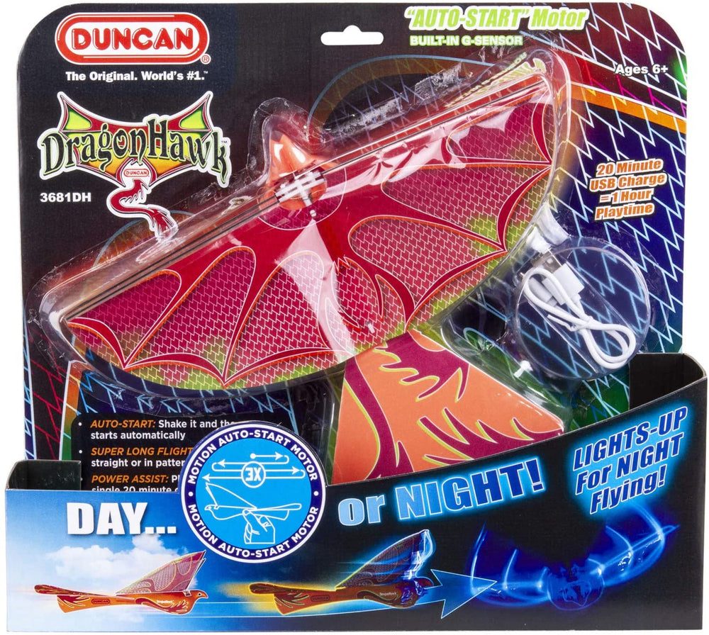 Duncan Toys Dragon Hawk Light-Up Flying Bird Glider