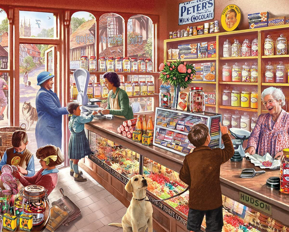 White Mountain Old Candy Store 1000 Piece Puzzle