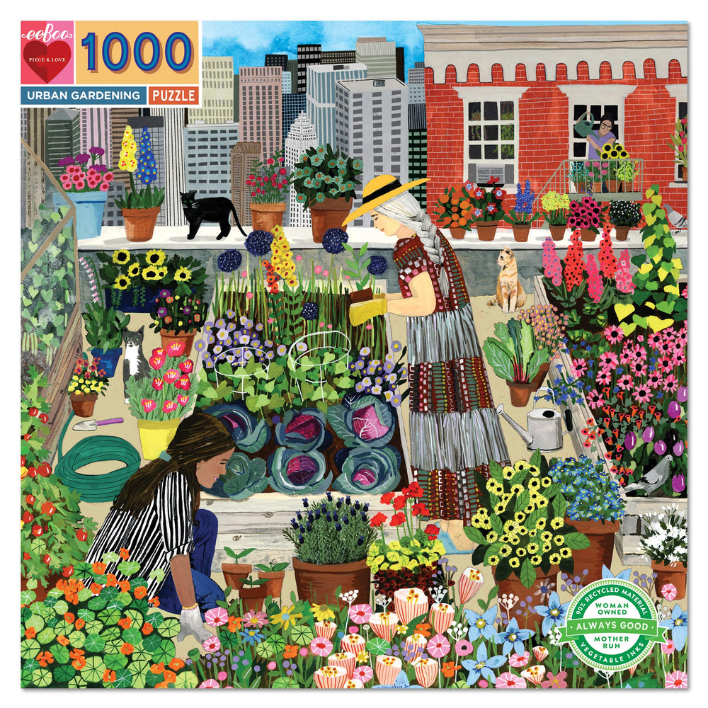 Load image into Gallery viewer, eeBoo Urban Gardening 1000 Piece Puzzle