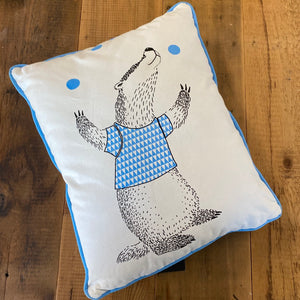 Load image into Gallery viewer, Juggling Badger Throw Pillow