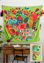 Natural Life Kindness Matters Tapestry Blanket