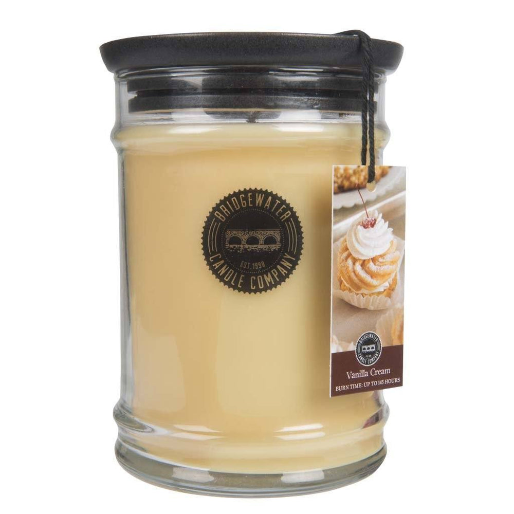 Bridgewater 18oz Large Jar Vanilla Cream Candle