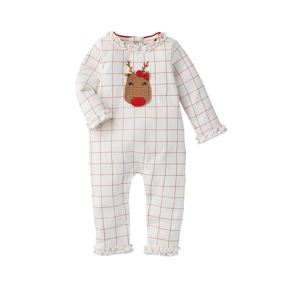 Girls Crochet Reindeer One Piece