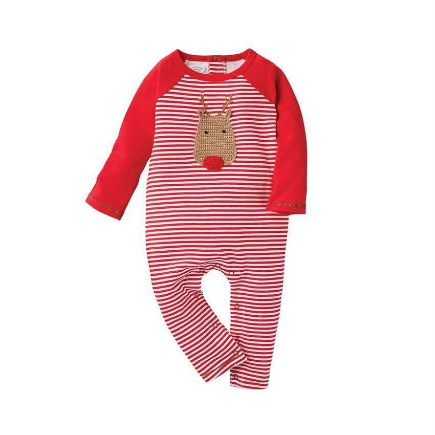 Boys Crochet Reindeer One Piece