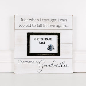 I Became a Grandmother Wood Photo Frame