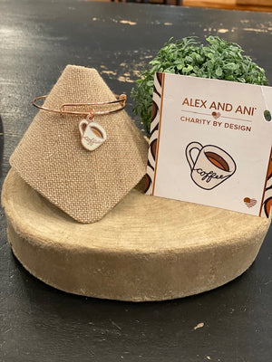 Alex & Ani Coffee Bangle Rose Gold